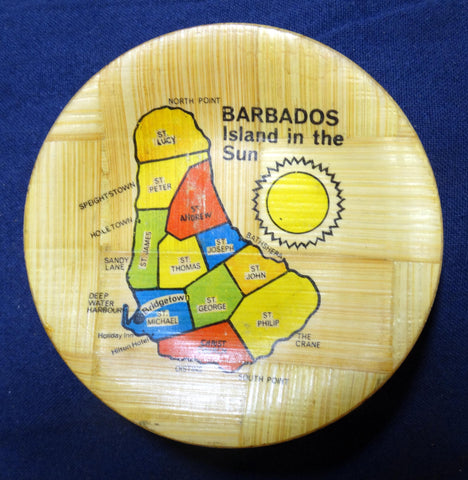 PRESSED BAMBOO ASHTRAY BARBADOS