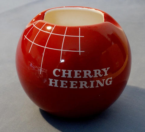 UNUSUAL PORCELAIN ASHTRAY PROMOTING CHERRY HEERING LIQUER