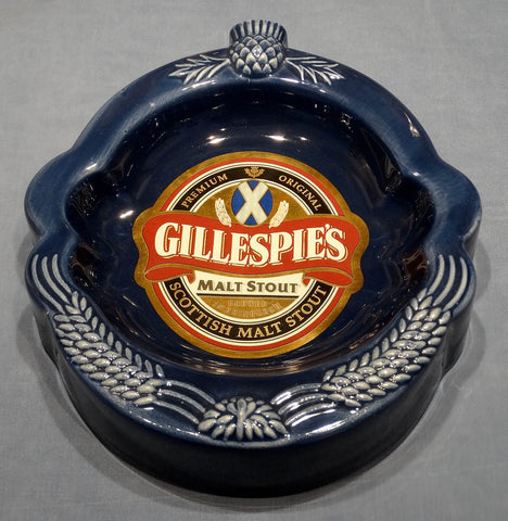 sold*sold*sold! GLAZED EARTHENWARE ASHTRAY - GILLESPIE'S MALT STOUT