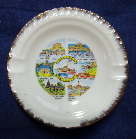 THREE ASHTRAYS CHANNEL ISLAND SOUVENIRS