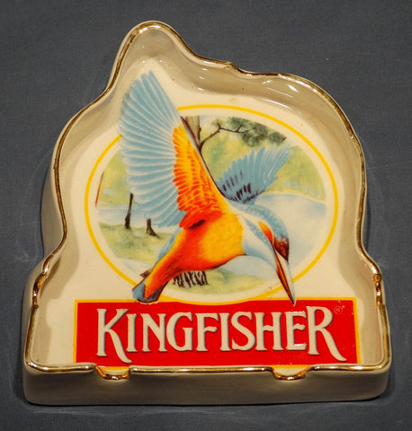 SOLD*SOLD*SOLD! ASHTRAY, PORCELAIN, KINGFISHER BEER.