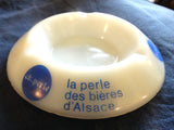 ARCOPAL BAR ASHTRAY 'CK.PERLE' FRENCH ALSACIAN LAGER BEER