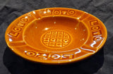 GLAZED EARTHENWARE ASHTRAY 'LOTO' (FRENCH NATIONAL LOTTERY)