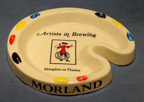 ARTIST'S PALETTE GLAZED EARTHENWARE ASHTRAY - MORLAND