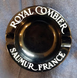 BLACK ARCOPAL TABLE ASHTRAY 'ROYAL COMBIER' FRENCH LIQUER