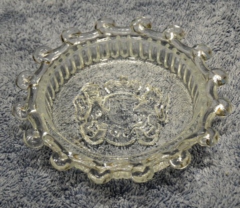 CORONATION QUEEN ELIZABETH II 1953 GLASS ASHTRAY/PINTRAY