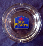 CLEAR GLASS TABLE ASHTRAY – BEST WESTERN HOTELS