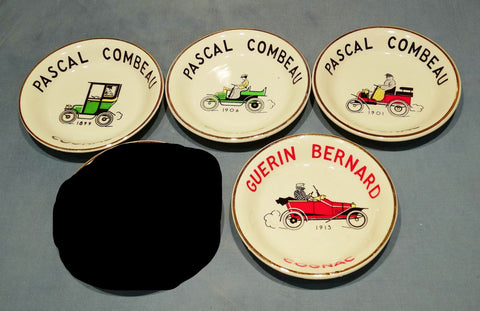 COGNAC AND CAR RELATED ASHTRAYS/PINTRAYS FROM COGNAC