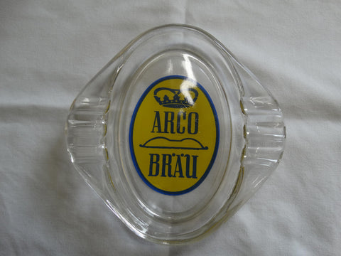 GLASS TABLE ASHTRAY 'ARCO' GERMAN PILSNER BEER