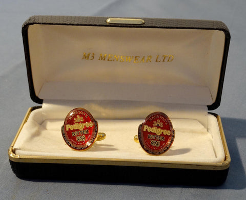 SOLD*SOLD*SOLD! GOLD PLATED CUFF-LINKS PEDIGREE BITTER BEER