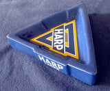 TRIANGULAR WADE GLAZED EARTHENWARE ASHTRAY - 'HARP' BRITISH LAGER BEER