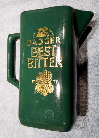 BAR WATER JUG BADGER BEST BITTER