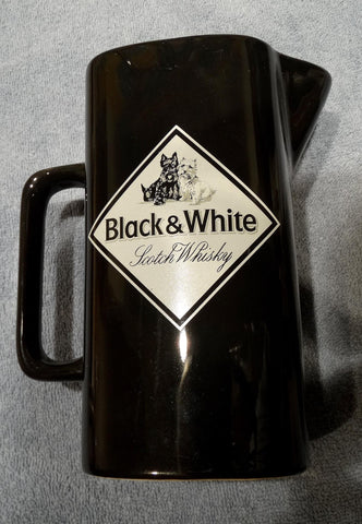 BAR WATER JUG BLACK & WHITE SCOTCH WHISKY