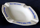 WHITE, RASTAL WERK, PORCELAIN, TABLE ASHTRAY 'SCHUMACHER BRAU' LAGER