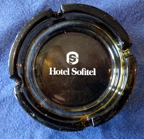 SMOKED GLASS TABLE ASHTRAY – SOFITEL HOTELS
