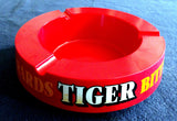 RED PLASTIC TABLE ASHTRAY EVERARDS 'TIGER' BITTER BEER
