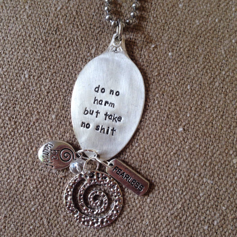 do no harm spoon necklace
