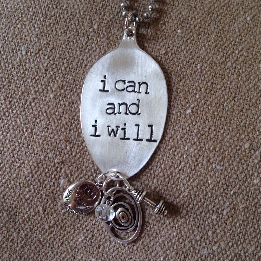 i can and i will spoon necklace