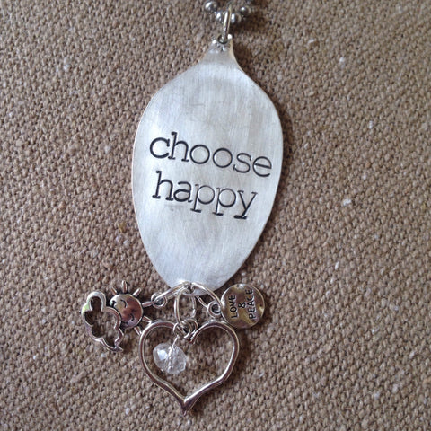 choose happy spoon necklace