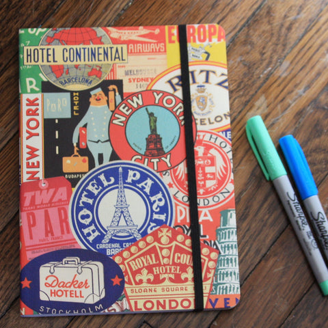 vintage travel notebook