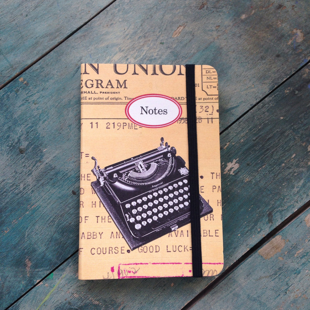 typewriter notebook
