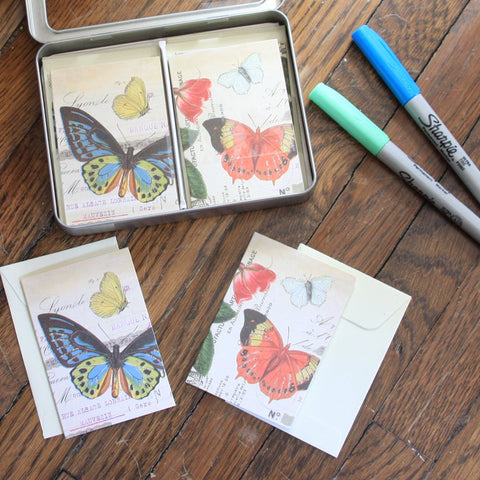 butterflies petite notecard set