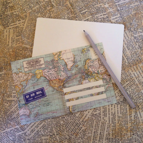 world map letter set