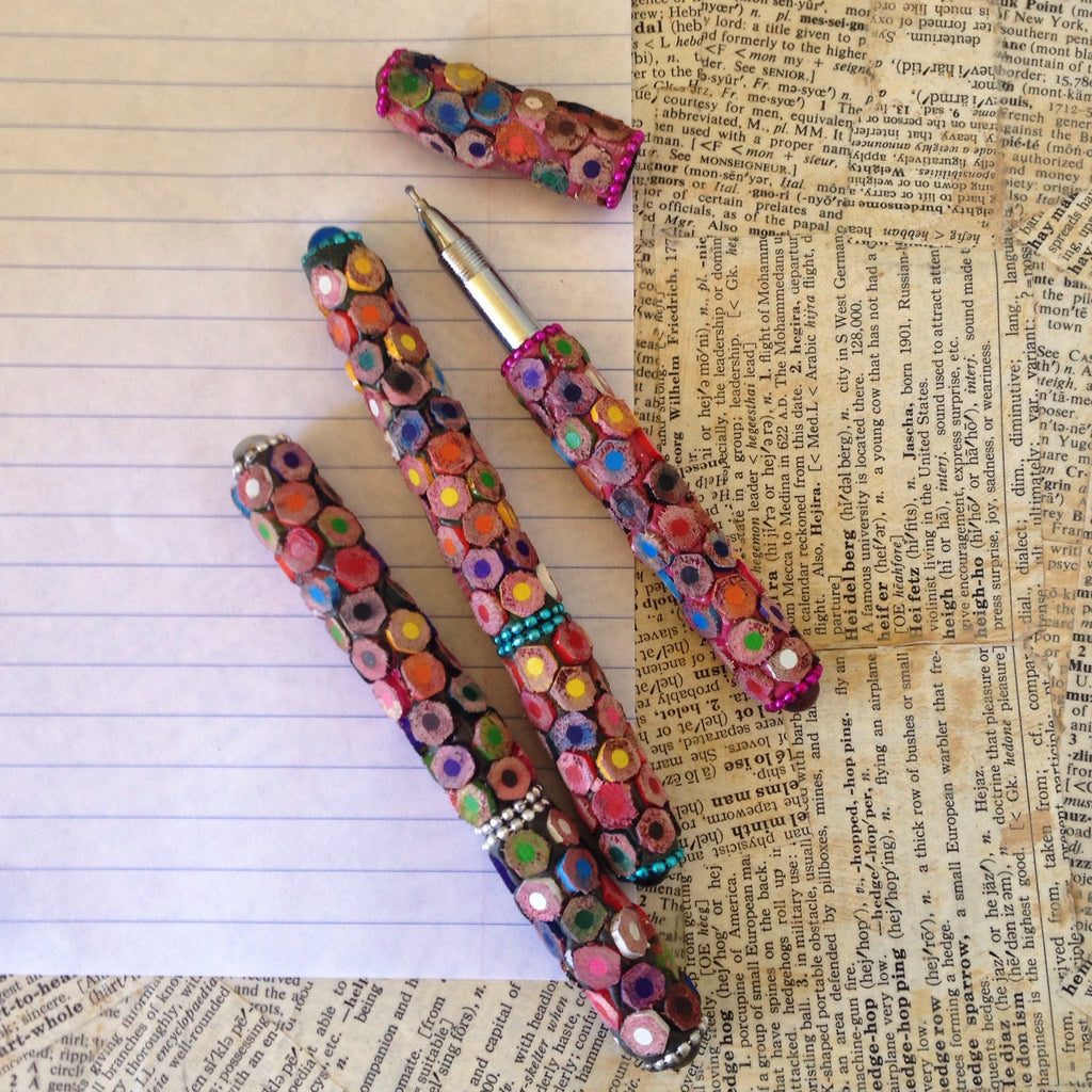 pencil-tiled pen