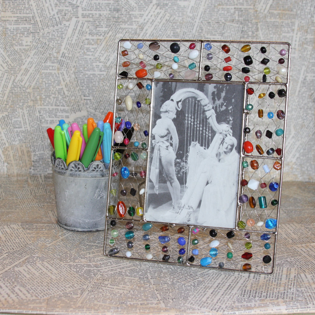 mixed beaded wire frames – Junque Drawer Studio
