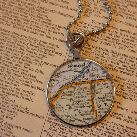 optometrist lense map necklace