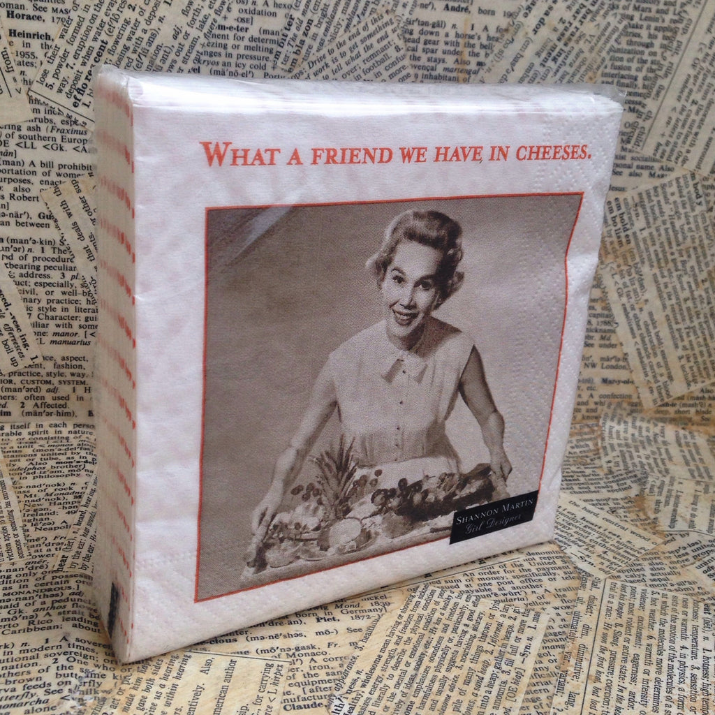 beverage napkins: friend in cheeses
