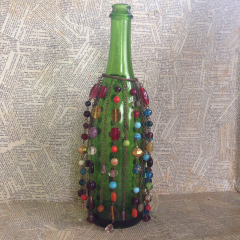 copper beaded bottle cover