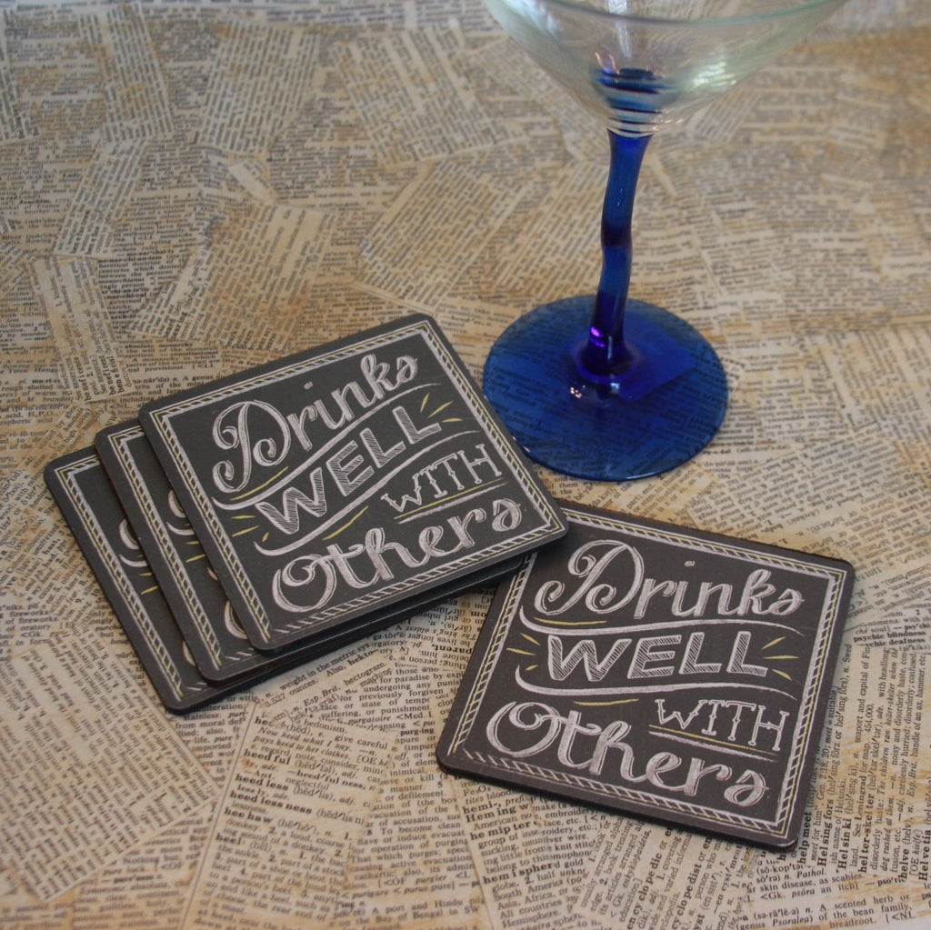 drinks well with others coaster set