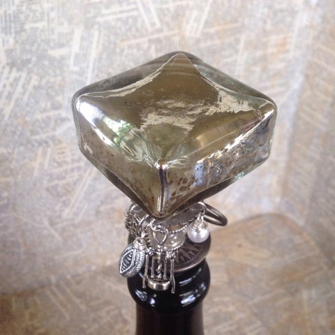 mercury glass wine stopper