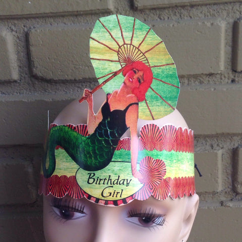 mermaid birthday girl tiara