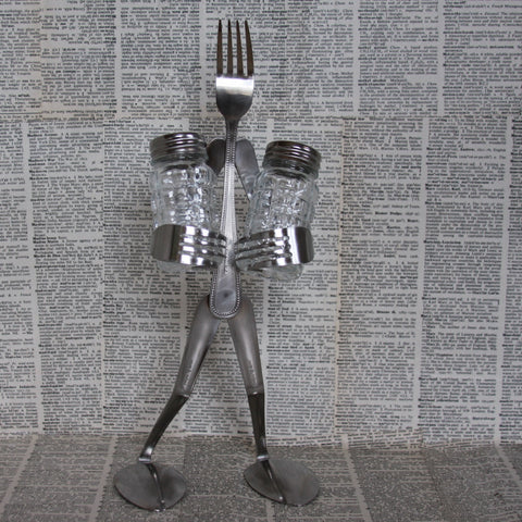 fork salt and pepper stand