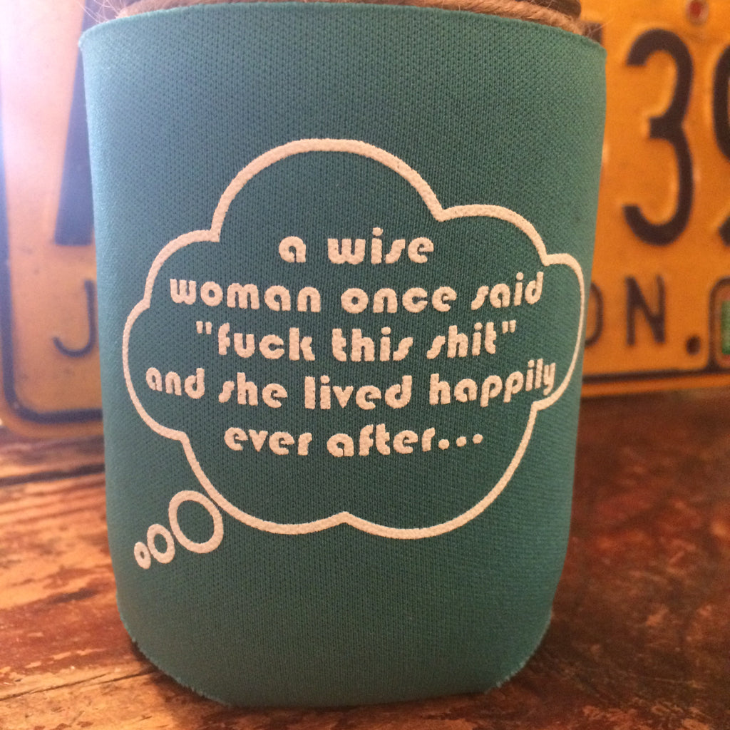wise woman koozie