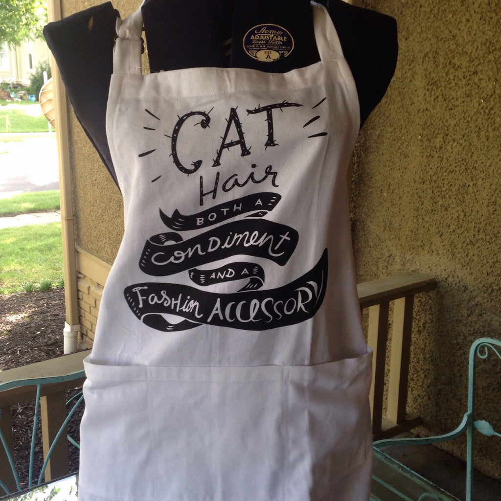 cat hair apron