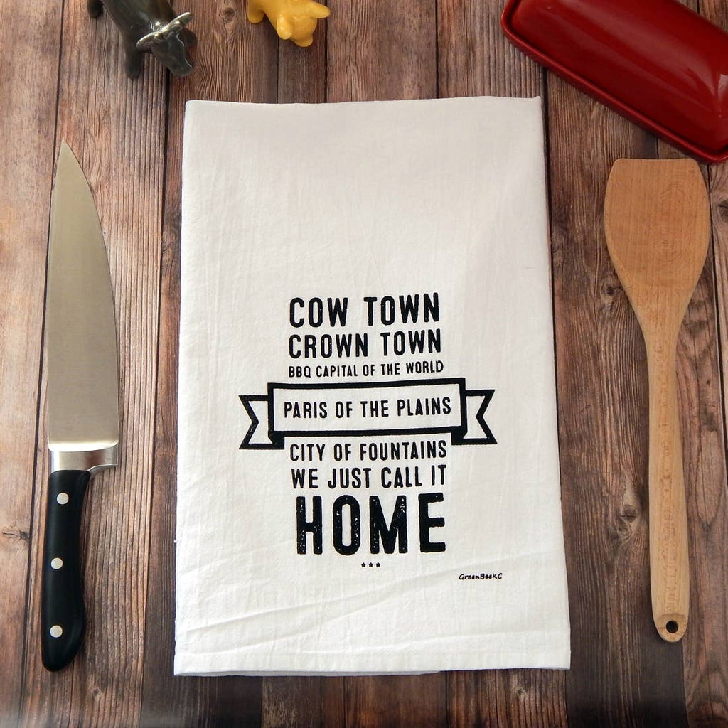 Kansas City Cow Town Tea Towel
