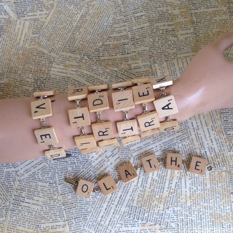scrabble tile bracelet: custom