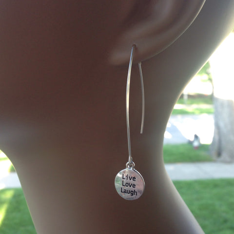live, love, laugh earrings