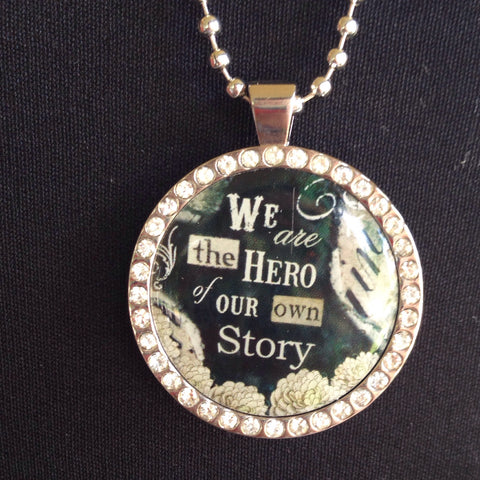 hero of your story charm with necklace