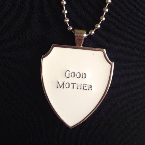 good mother charm with necklace