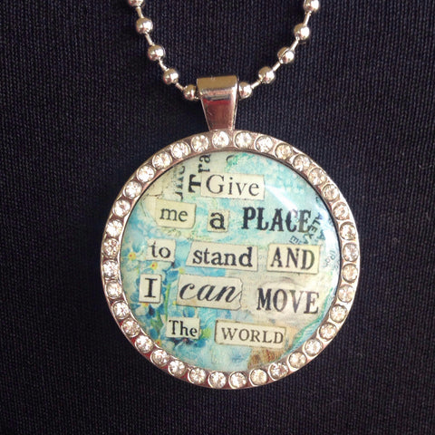 place to move charm with necklace