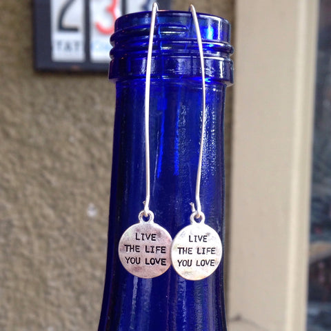 live the life you love earrings