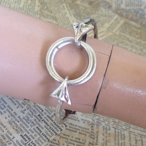antique silver arrow bracelet