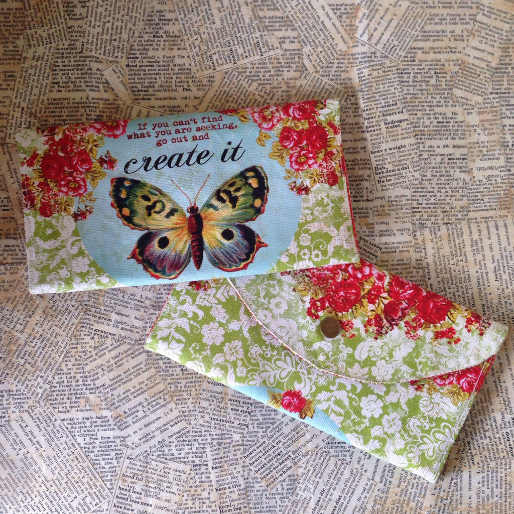 create it painted canvas wallet