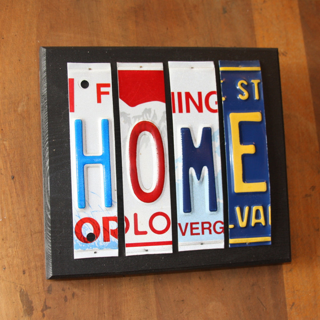 home license plate art