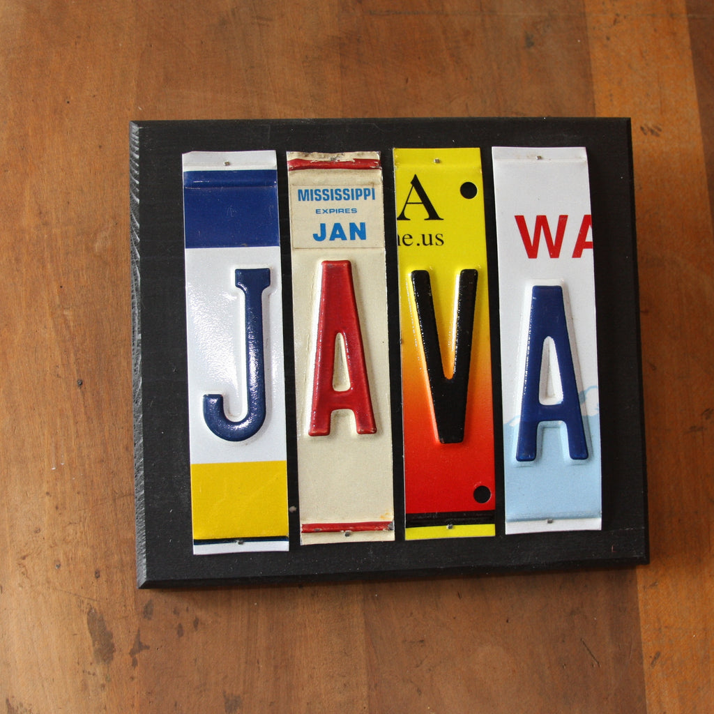java license plate art
