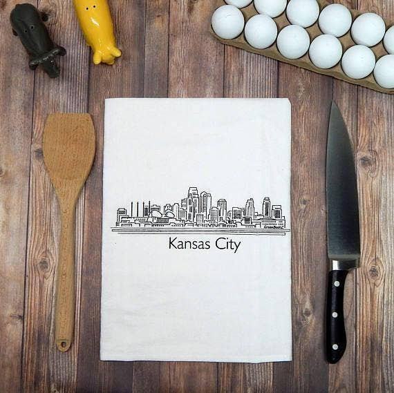 Kansas City Skyline Tea Towel